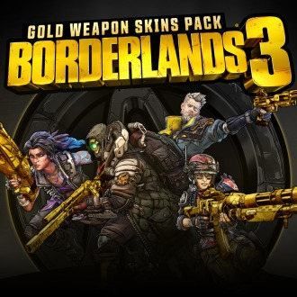 Borderlands 3 Gold Weapon Skins Pack PS4