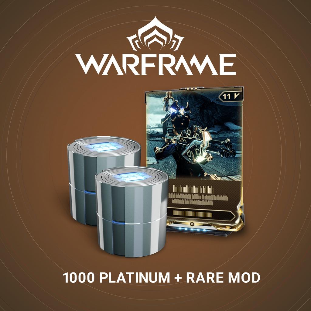 Warframe®: 1000 Platinum + Rare Mod
