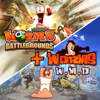 Worms Battlegrounds + Worms W.M.D PS4