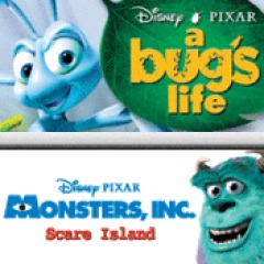 A Bug's life and Monster's Inc PS3 / PS Vita / PSP
