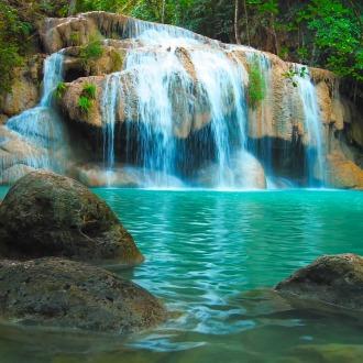 BRIKS 2 Beautiful Waterfall and Natural Pond HD Theme PS4