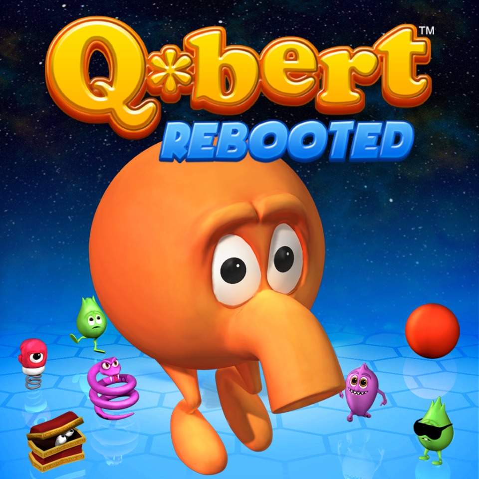 A Q*bert: Rebooted Game and Pixels Theme Bundle
