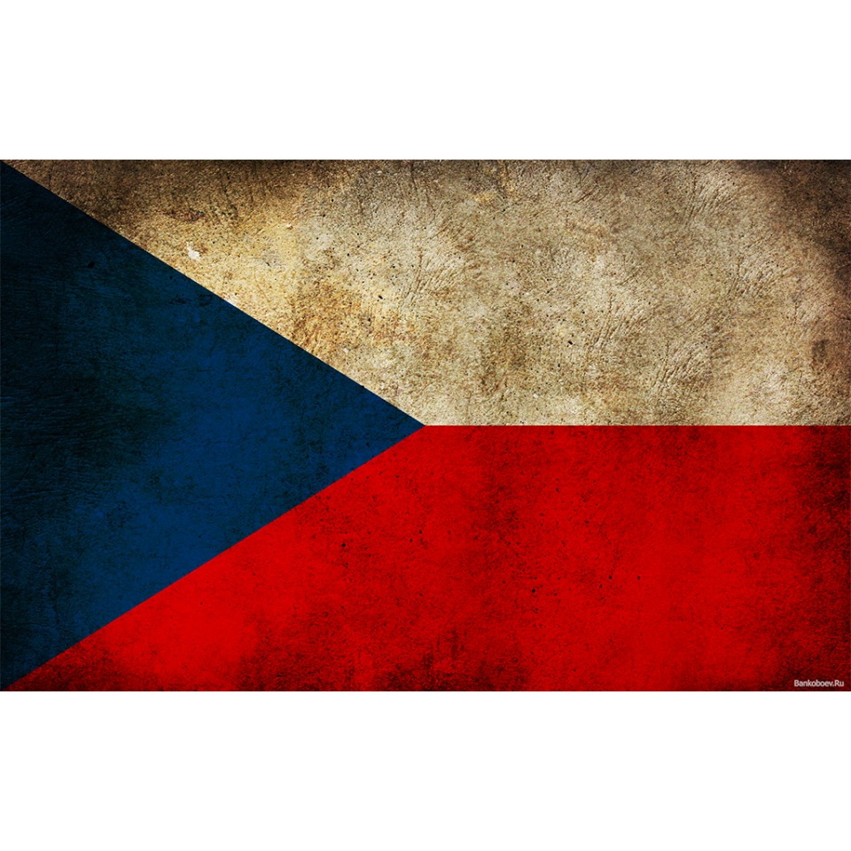 CZECH REPUBLIC FLAG DISTRESSED AVATAR