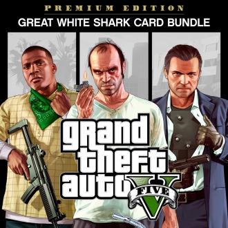 Комплект: GTA V, стартовый набор и карта «Белая акула» PS4