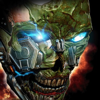 X-Morph Defense Green Skull Avatar PS4