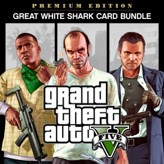 Grand Theft Auto V, Criminal Enterprise Starter Pack and Great White Shark Card Bundle PS4