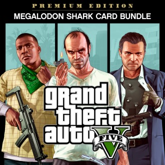 Grand Theft Auto V, Criminal Enterprise Starter Pack and Megalodon Shark Card Bundle PS4