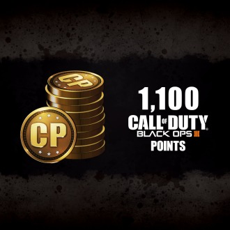 1,100 Call of Duty®: Black Ops III Points PS4
