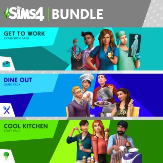 The Sims™ 4 Bundle - Get to Work, Dine Out, Cool Kitchen Stuff PS4