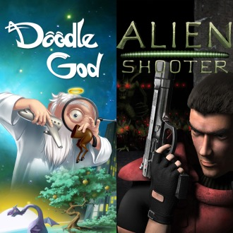 Alien Shooter + Doodle God Bundle PS4