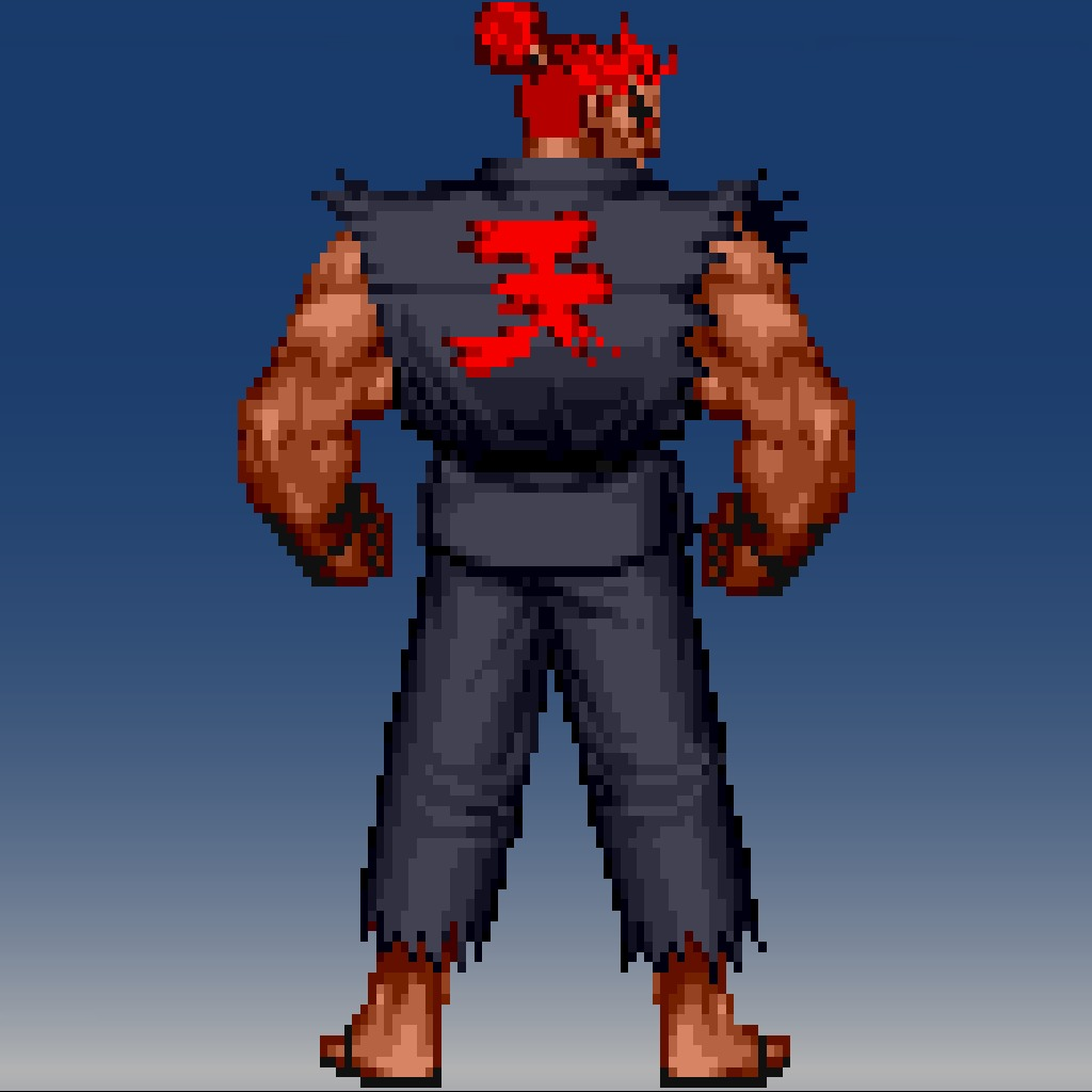 Street Fighter® IV 16bit Akuma Avatar