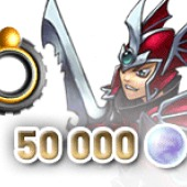 Rainbow Moon 50,000 Rainbow Pearls (Baldren) + Black Ring