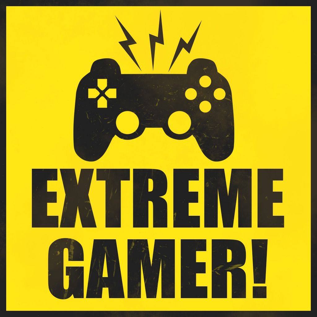 Extreme Gamer Warning Avatar