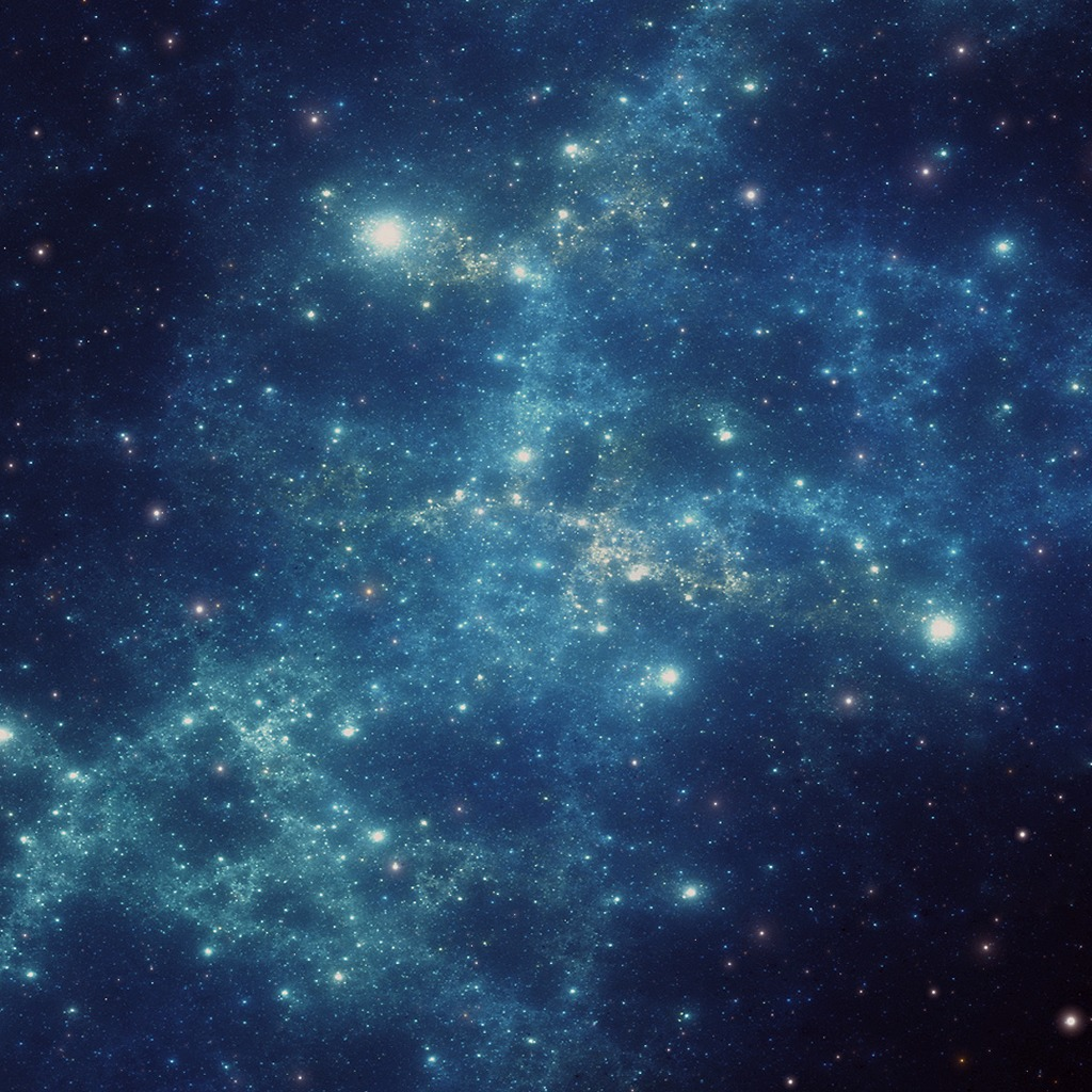 Blue Nebula Galaxy Dynamic Theme