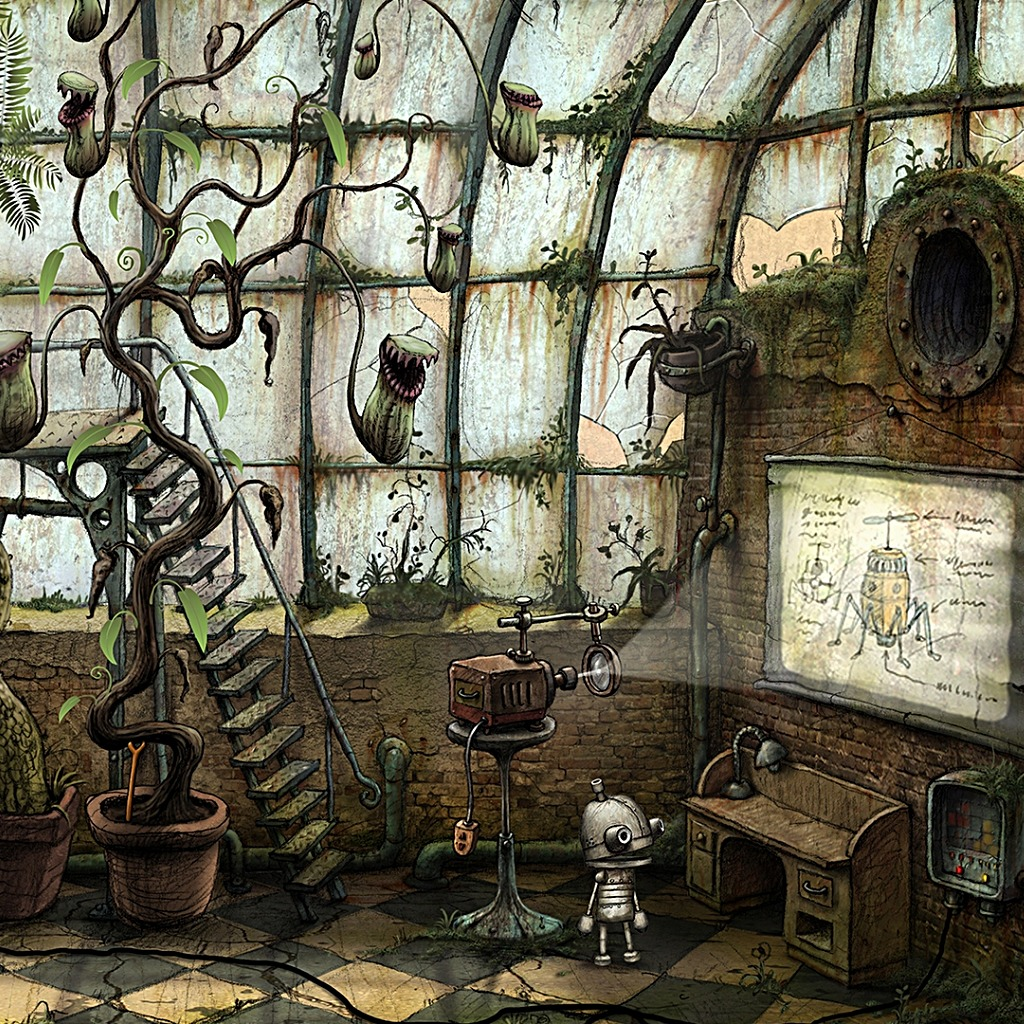 Machinarium The Glasshouse Wallpaper