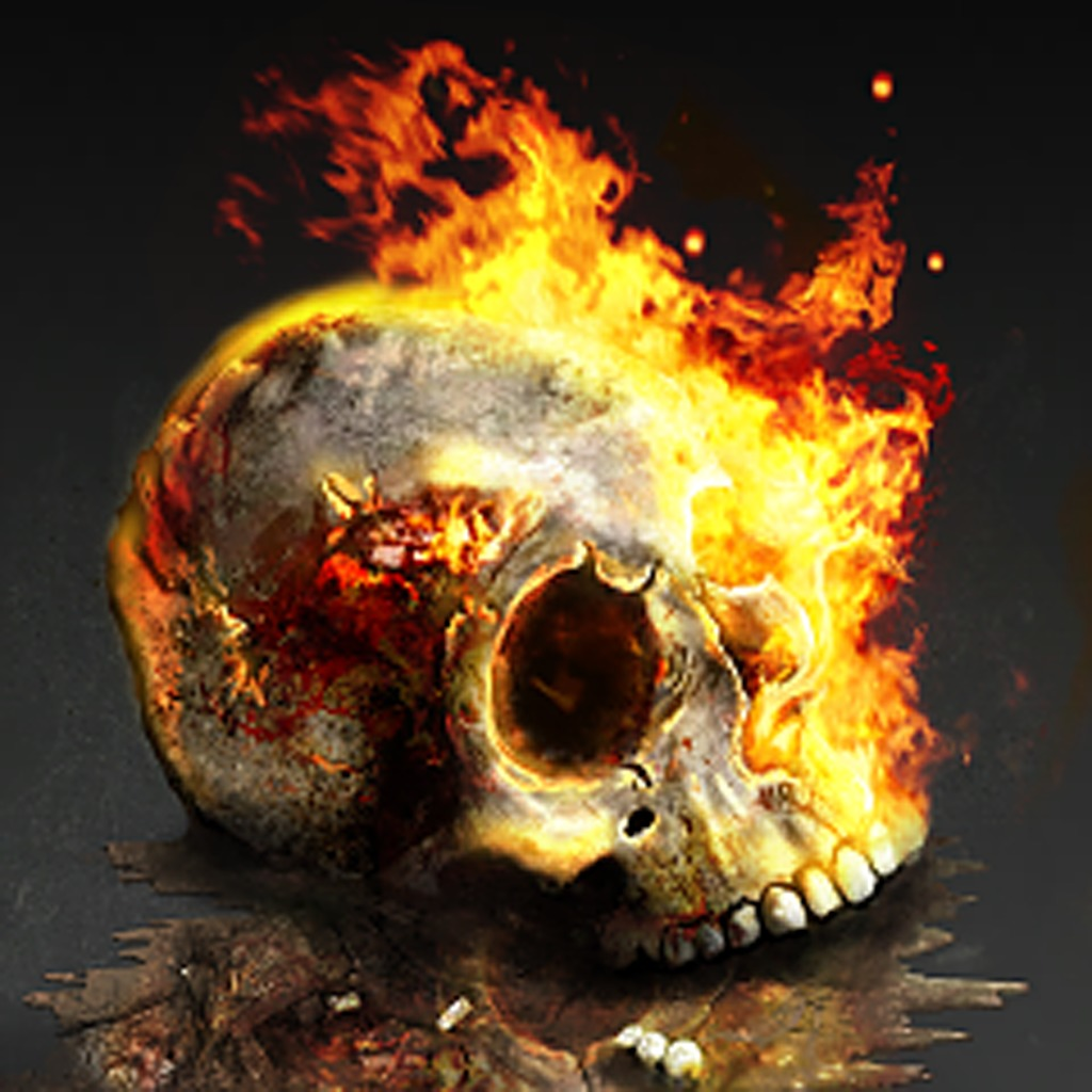Zombie Driver HD Burning Skull Avatar