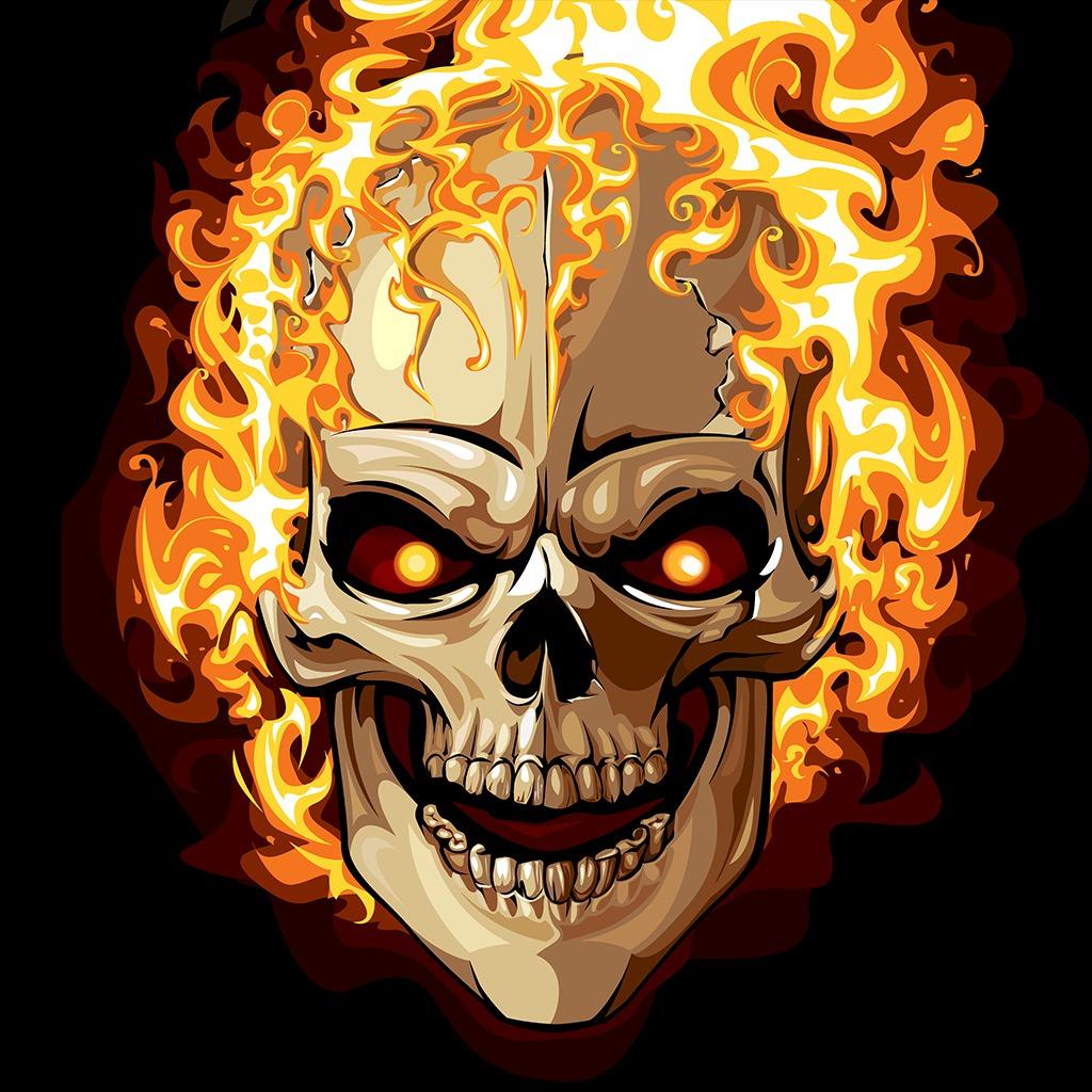 Evil Fire Skull Avatar