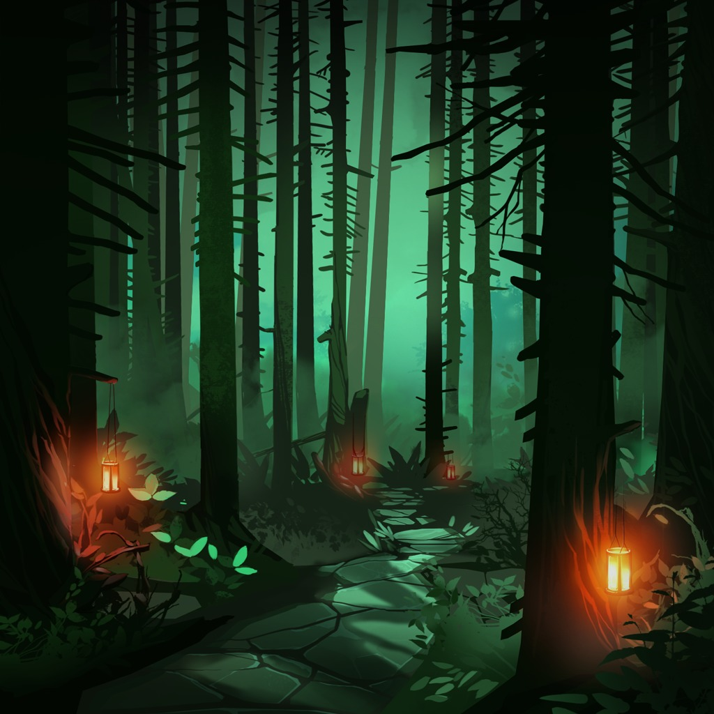 Forest Night Path HiQ Dynamic Theme