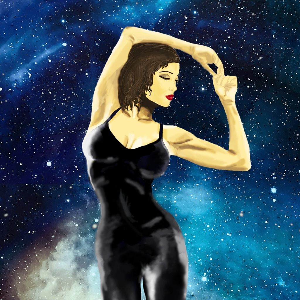 Beautiful Woman And Space Avatar
