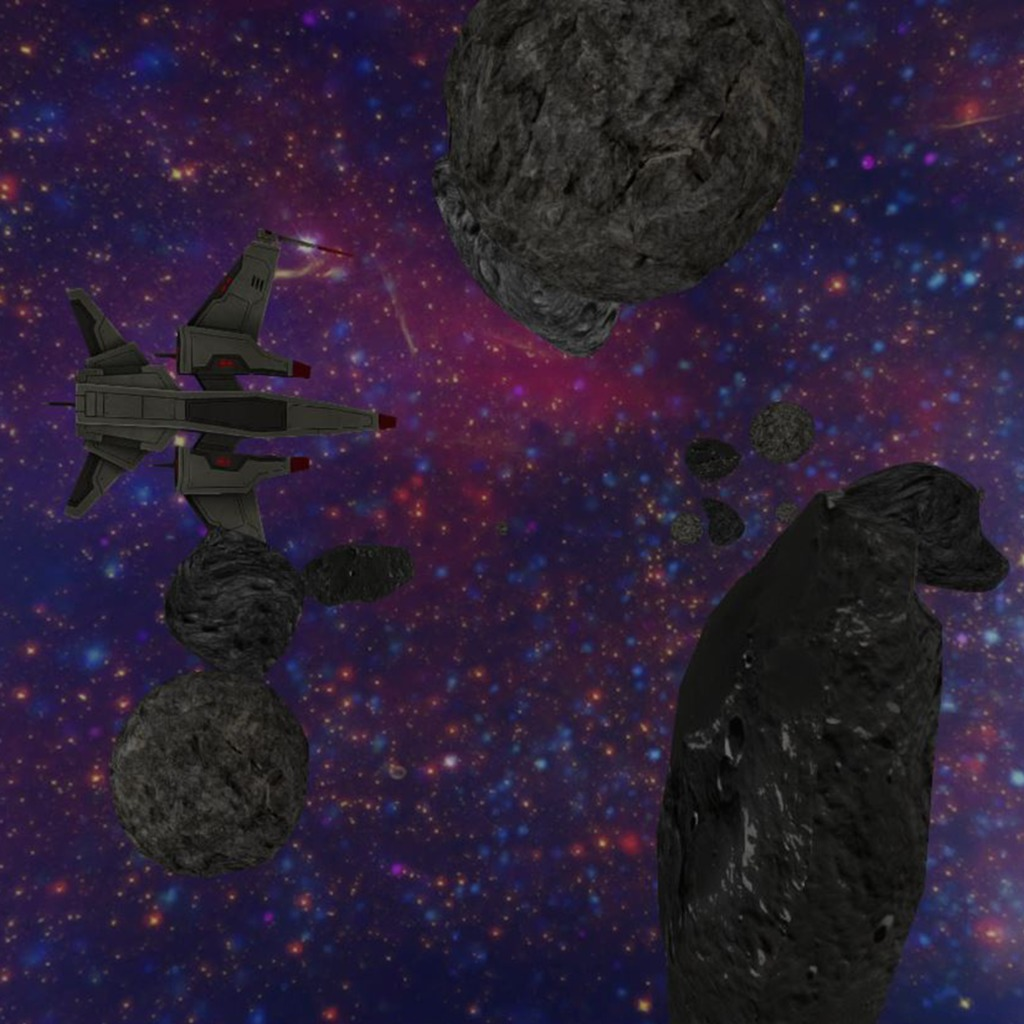 3D Asteroid Field Dynamic Theme