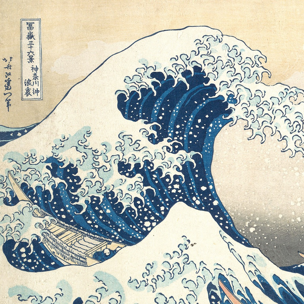 Afloat in the Great Wave off Kanagawa
