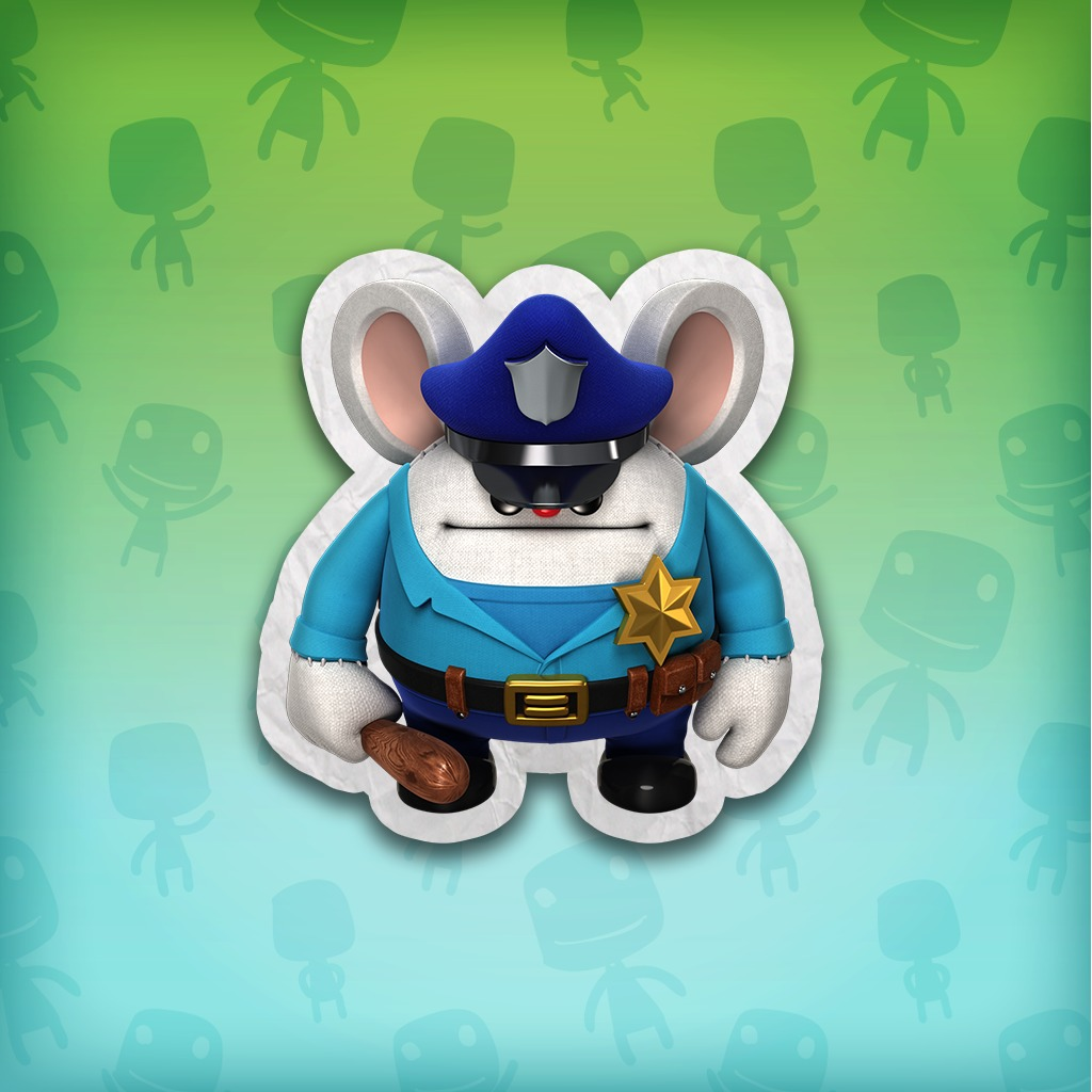 LittleBigPlanet™ 3: Namco Classics Police Mouse Mappy Costume